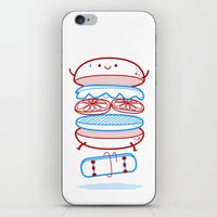 street iPhone & iPod Skins featuring Street burger  by SpazioC