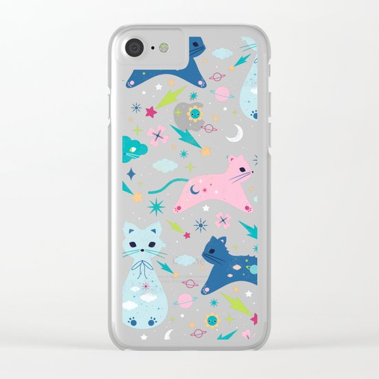 Cloud Kittens Clear iPhone Case