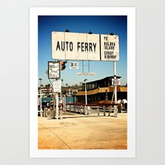 Balboa Ferry Art Print