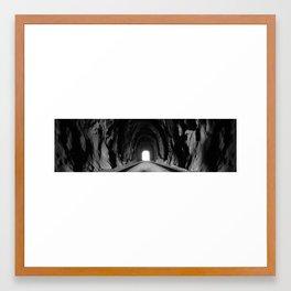 Train Tunnel Framed Art Print