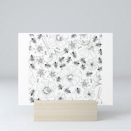 Honeybees and co. Mini Art Print