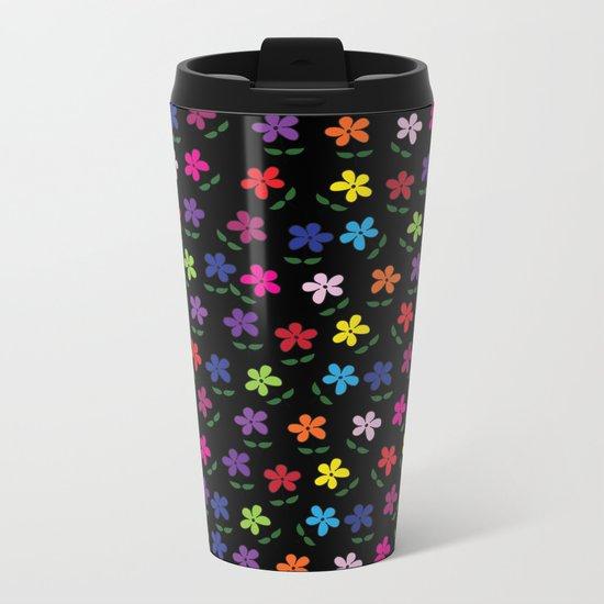 Pattern E 5 Metal Travel Mug