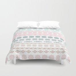 Modern pastel color geometrical scandinavian pattern Duvet Cover