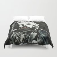 death star Duvet Covers featuring Death Star by Matt Pecson