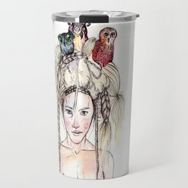 Owls in the head Travel Mug
