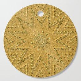 Golden Star Mandala Cutting Board