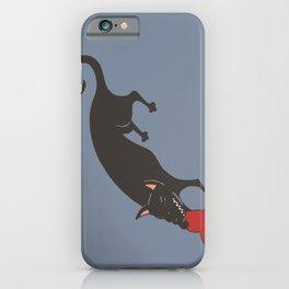 Black Dog burying a Heart iPhone Case