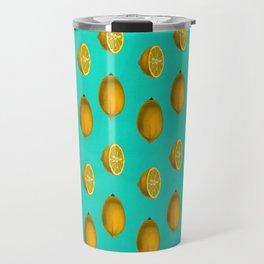 Lemon on Blue Travel Mug