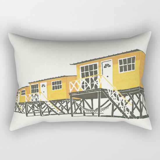 On Paper: Tres Amarillos Rectangular Pillow