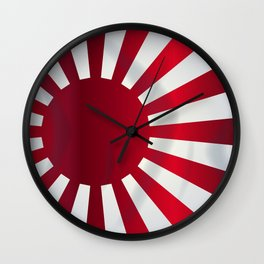 Japanese Rising Sun Flag Wall Clock