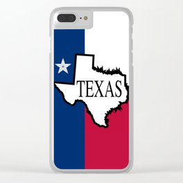State of Teaxs Clear iPhone Case