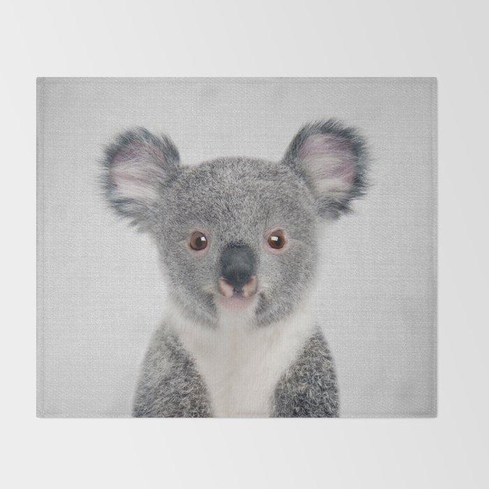 Baby Koala - Colorful Throw Blanket