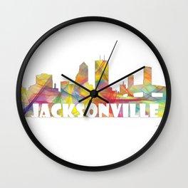 Jacksonville, Florida skyline MCLR 2 Wall Clock