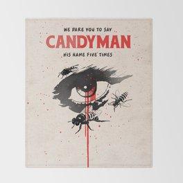Candyman cover film Throw Blanket