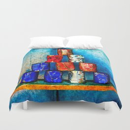 Soup Cans - Square Meal Duvet Cover