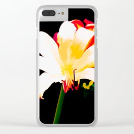 Multi-Color Lilies Clear iPhone Case