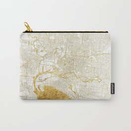 Melbourne Map Gold Carry-All Pouch