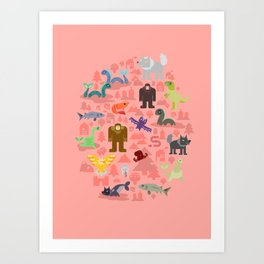 Cryptids of the Pacific Northweird Art Print
