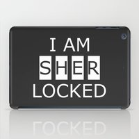 scandal iPad Cases featuring I AM SHERLOCKED by Sandhill