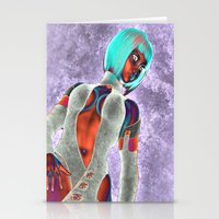 sci fi Stationery Cards featuring Sci Fi Girl  by Brian Raggatt
