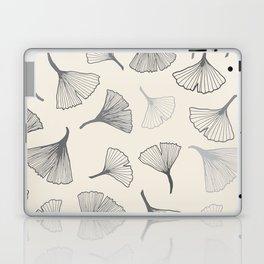 Ginko leaves grey Laptop & iPad Skin