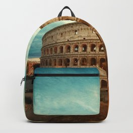 Colosseum Amphitheatre Rome Italy Backpack