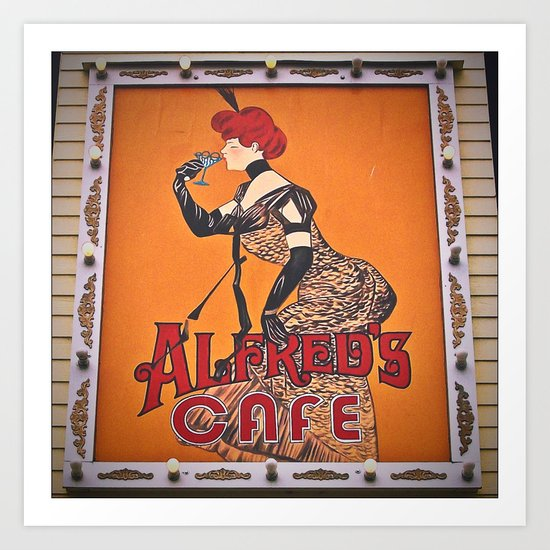 Alfred's sign Art Print
