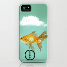 unicyle goldfish III iPhone Case