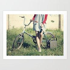 Vintage Biker Art Print