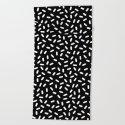 Bingo - black and white sprinkle retro modern pattern print monochromatic trendy hipster 80s style by wacka