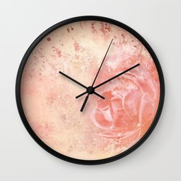 Rose Colored Splashes Wall Clock