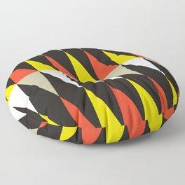 Geometric Pattern #187 (harlequin red yellow) Floor Pillow
