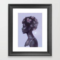 Moonlight lady Framed Art Print