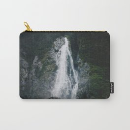 Waterfall in Milford Sound, NZ Carry-All Pouch