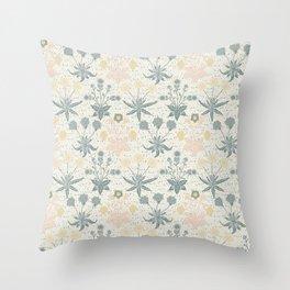 Vintage Floral & Plants Pattern Throw Pillow
