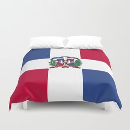 Dominican Republic flag emblem Duvet Cover