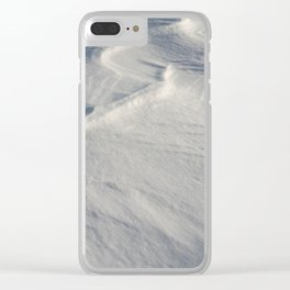 April snow drifts Clear iPhone Case