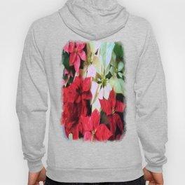 Mixed color Poinsettias 1 Vivid Oil Hoody