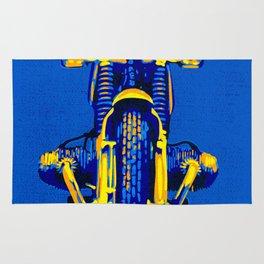 Pop Art BMW Motorcycle Rug