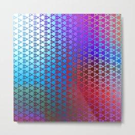 Groovy Retro Pattern (purple-red-turquoise) Metal Print