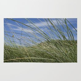 Green grass and blue sky Rug