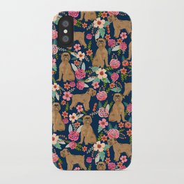 Brussels Griffon florals pattern for dog lovers custom pet friendly gifts for all dog breeds iPhone Case