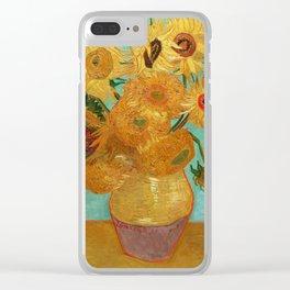 Vincent Van Gogh Twelve Sunflowers In A Vase Clear iPhone Case