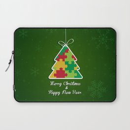 Merry Christmas & Happy New Year - Puzzle Tree Laptop Sleeve