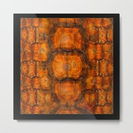 TEXTURED NATURAL ORGANIC TURTLE SHELL PATTERN Metal Print