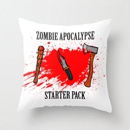 Zombie apocalypse - starter pack Throw Pillow