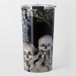 Ossuary (Bones and Skulls in the Cemetery Church of All Saints) Travel Mug