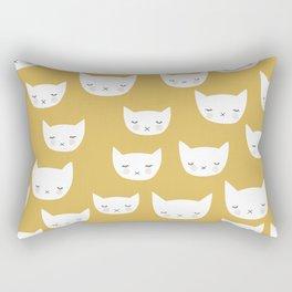 Sweet sleepy kitty cats kawaii baby animals kids pattern Rectangular Pillow