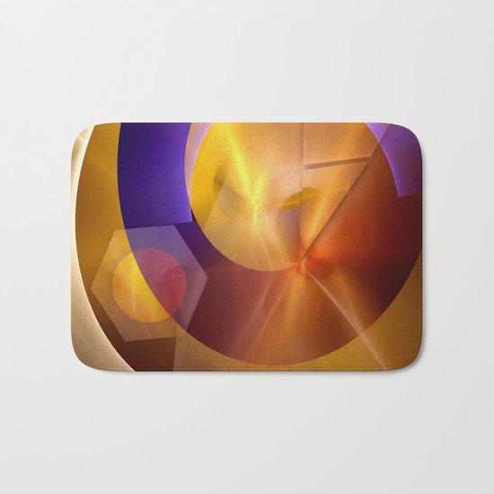 Modern abstract with a golden glow Bath Mat
