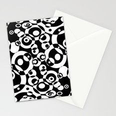 Chaos in black and white Stationery Cards